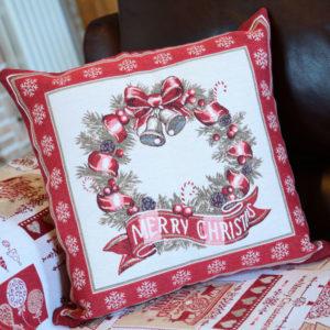 Fodere cuscini Merry Ghirlanda Natale | Patrizia Zani