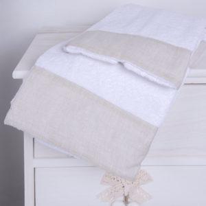 Coppia asciugamani in spugna/lino | Patrizia Zani