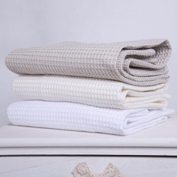 Coppia asciugamani a nido d'ape   Patrizia Zani