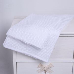 Coppia asciugamani a nido d'ape | Patrizia Zani