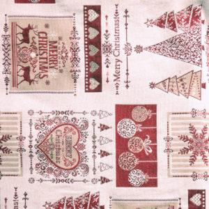 Tessuto Christmas Cuore   Patrizia Zani
