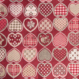 Tessuto Hearts Natale | Patrizia Zani