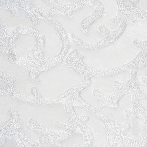 Tessuto Devorè Damascato Argento | Patrizia Zani