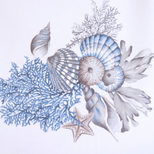 Tessuto Panama Conchiglia   Blu   Patrizia Zani